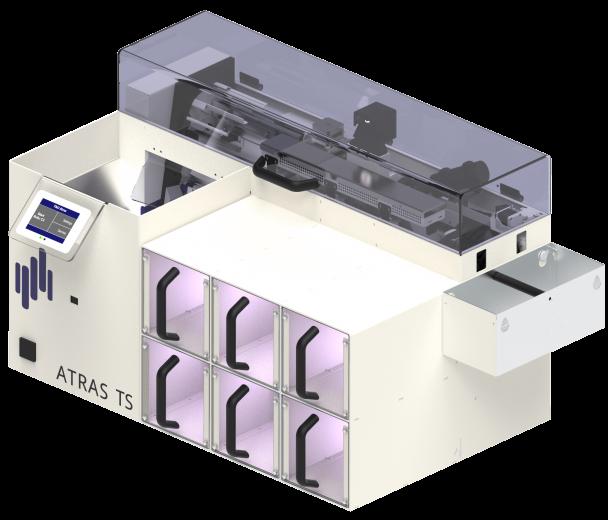 Tischsorter ATRAS Laborröhrchen Schüttgut Sortierung Registrierung