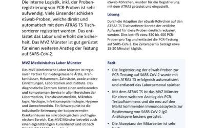 MVZ Labor Münster nutzt intelligente Probenregistrierung zur Bewältigung der Testung auf SARS-CoV-2